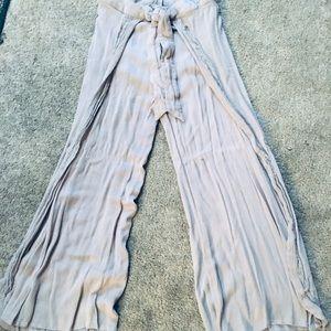 Boho styles split side flow pants